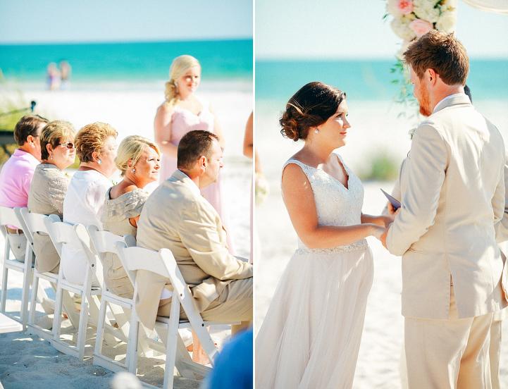 Sandbar wedding
