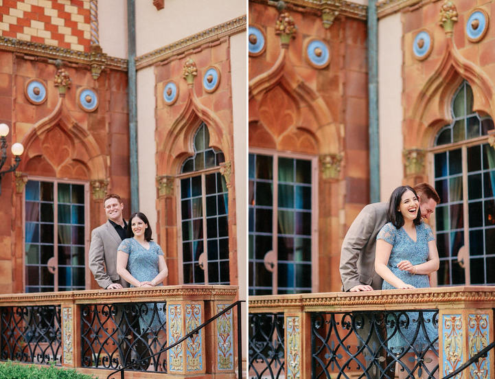 Engagement photos at Ringling Museum